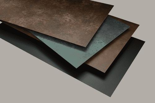 Verbundplatten in unterschiedlichen Farben