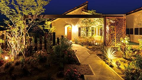 Gartenbeleuchtung mit Design Panel