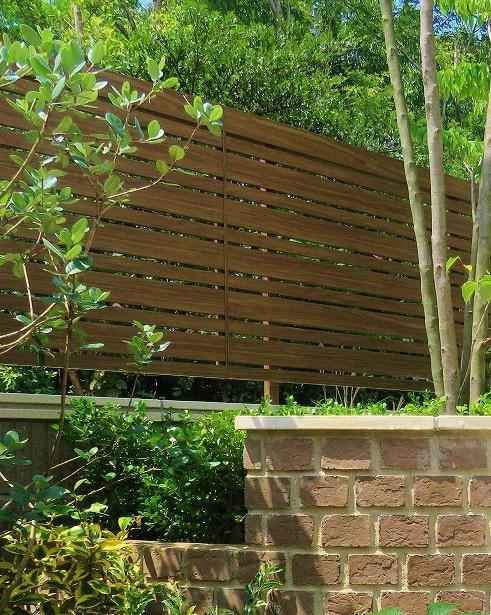 Sichtschutz Aluminium in Holzoptik