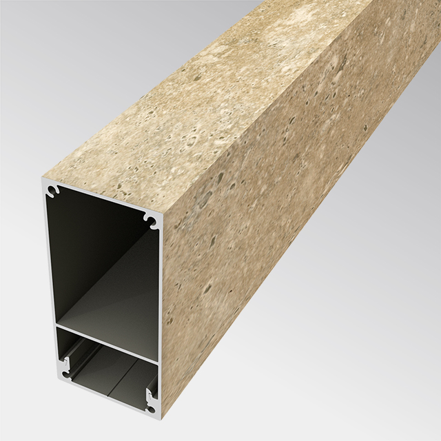 Aluminium in Steinoptik 50×100 (t:1.5mm)