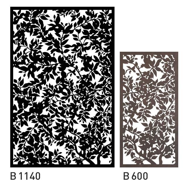 Design Panel mit Waldblättern